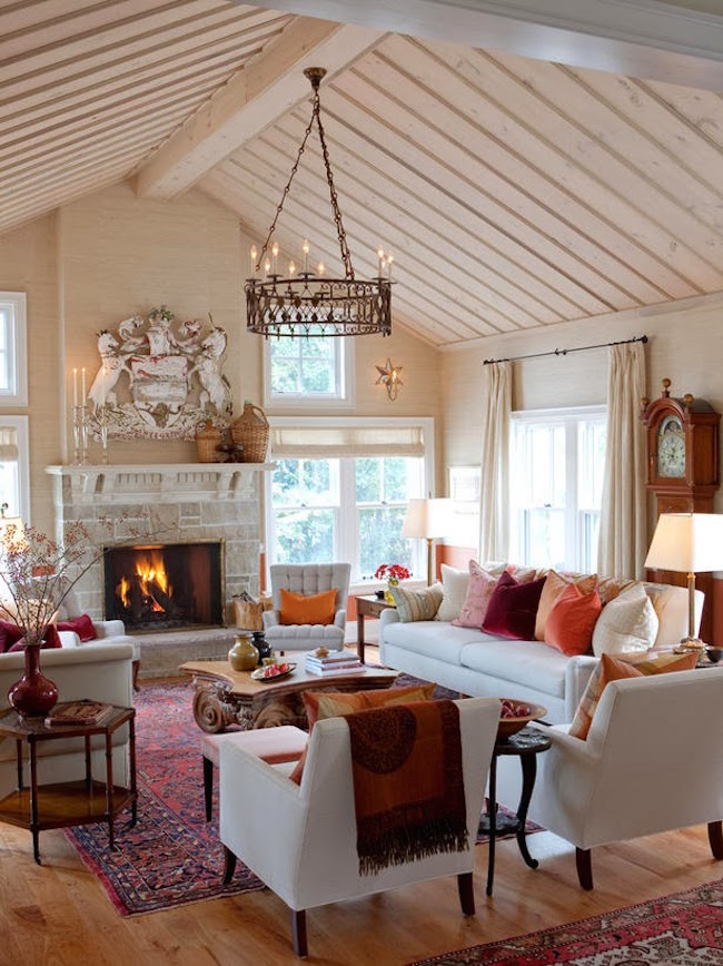 Cozy Fireplaces To Warm Up Farmhouse Living Room