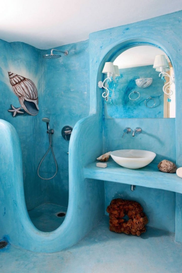 Inspiration Bathroom Design Sea Theme Blue