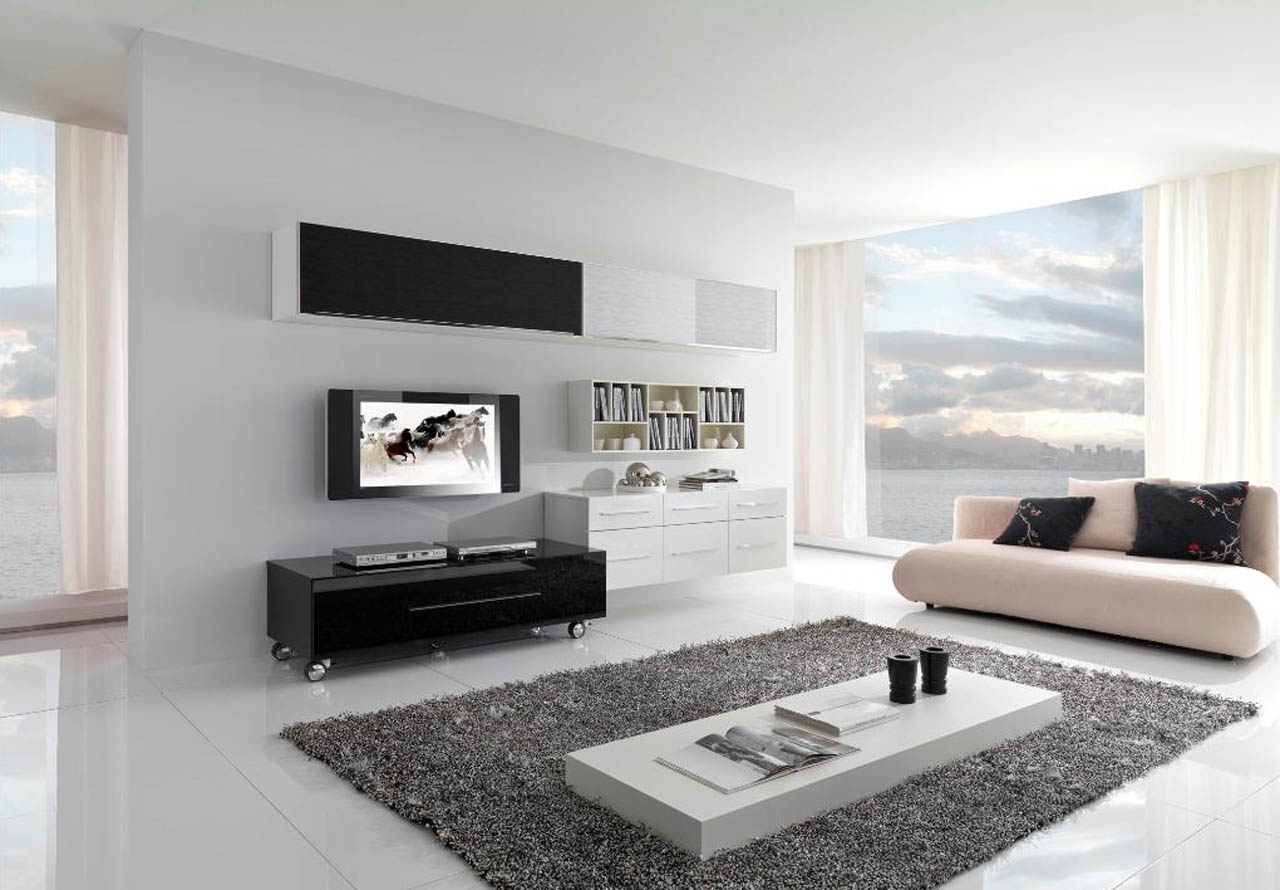Inspiring Wonderful Black and White Contemporary Interior Designs