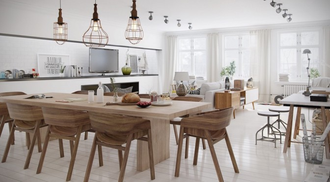 25 Refreshing Scandinavian Dining Room Designs