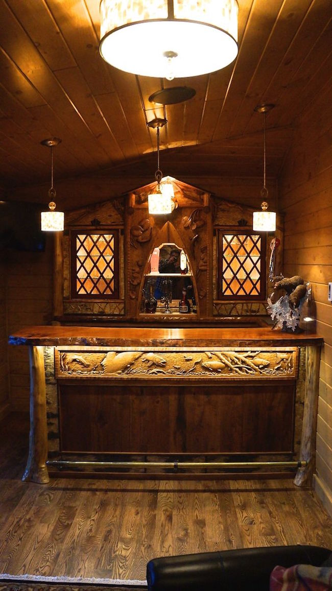 Adirondack Rustic Home Bar