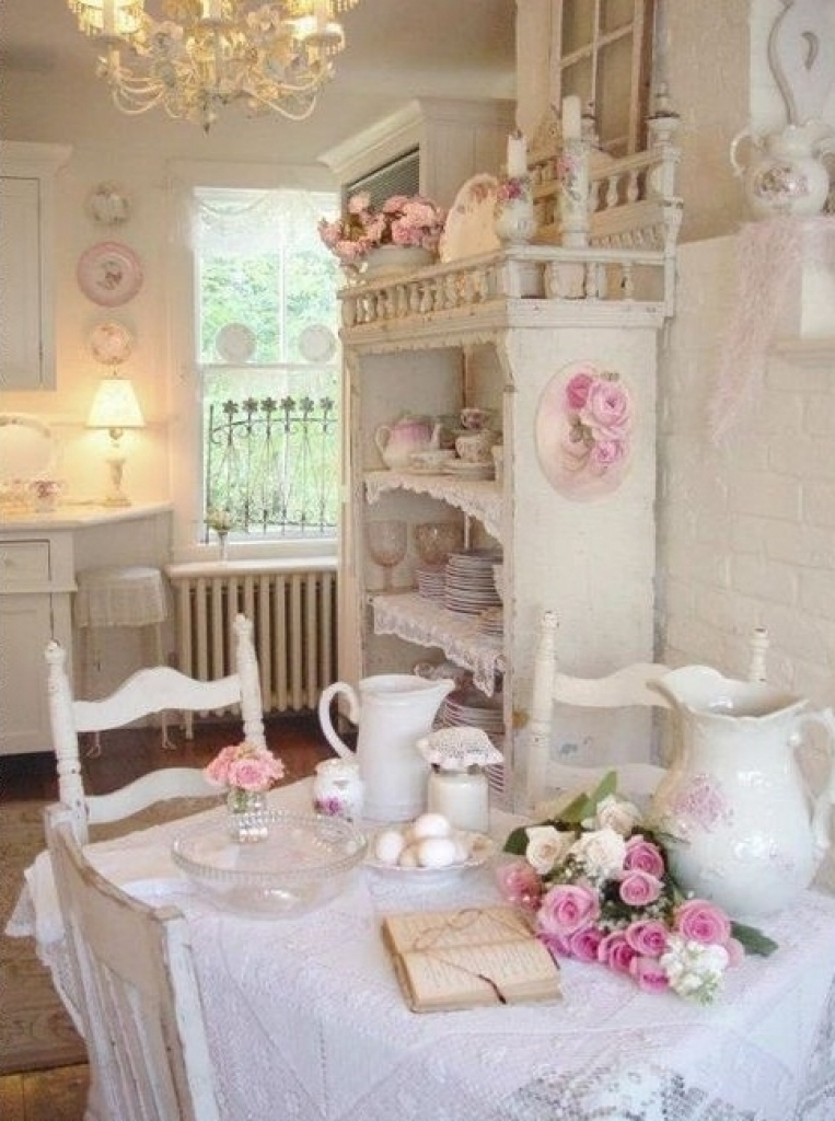 Beautiful Shabby Chic Dining Room Design Ideas