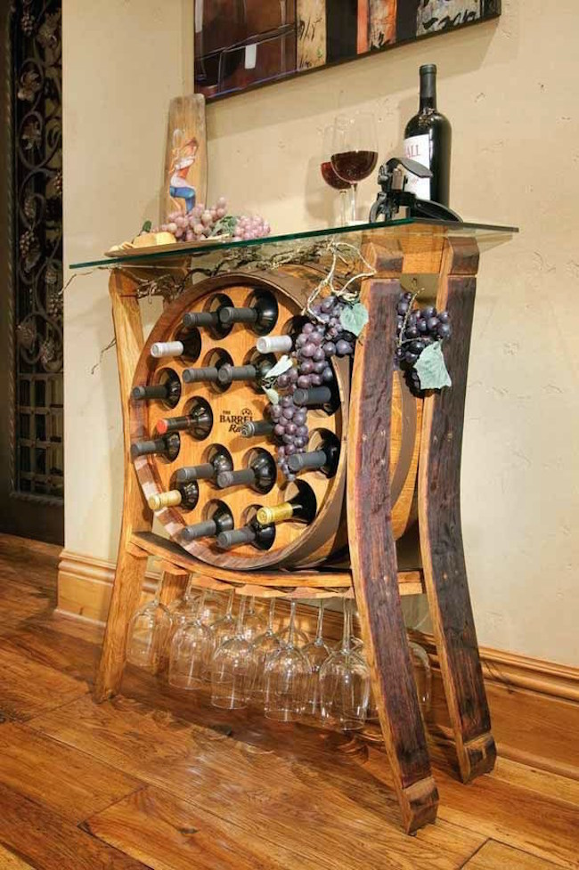 Bottle rack build your own with storage for wine