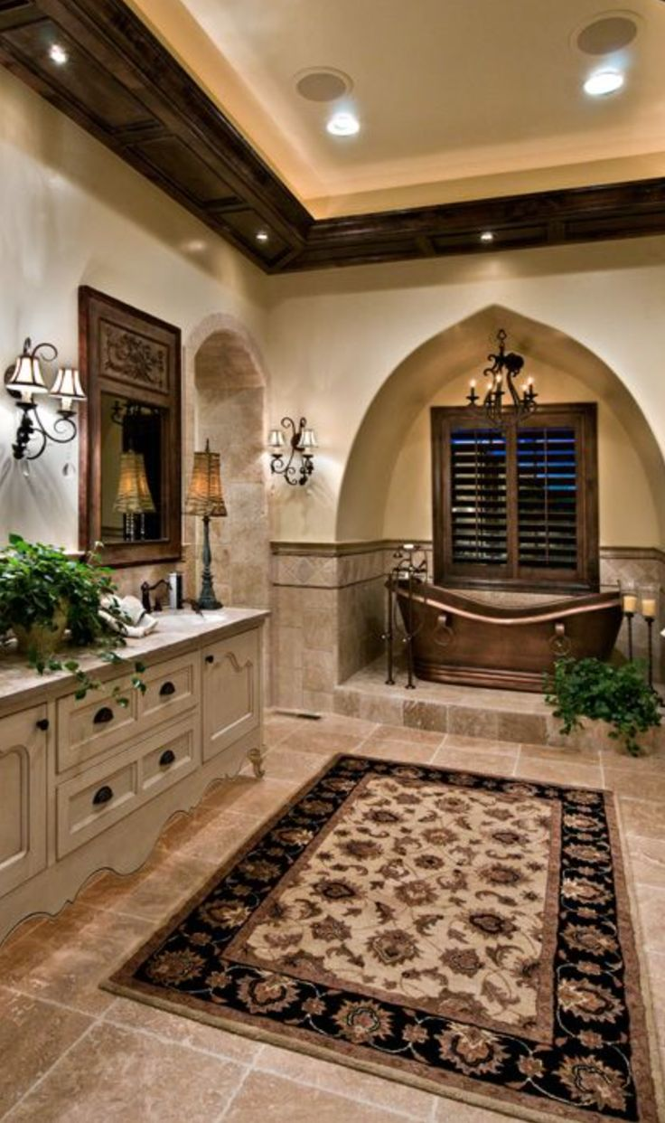 23 elegant mediterranean bathroom design ideas interior god - Master bathroom decorating ideas ...