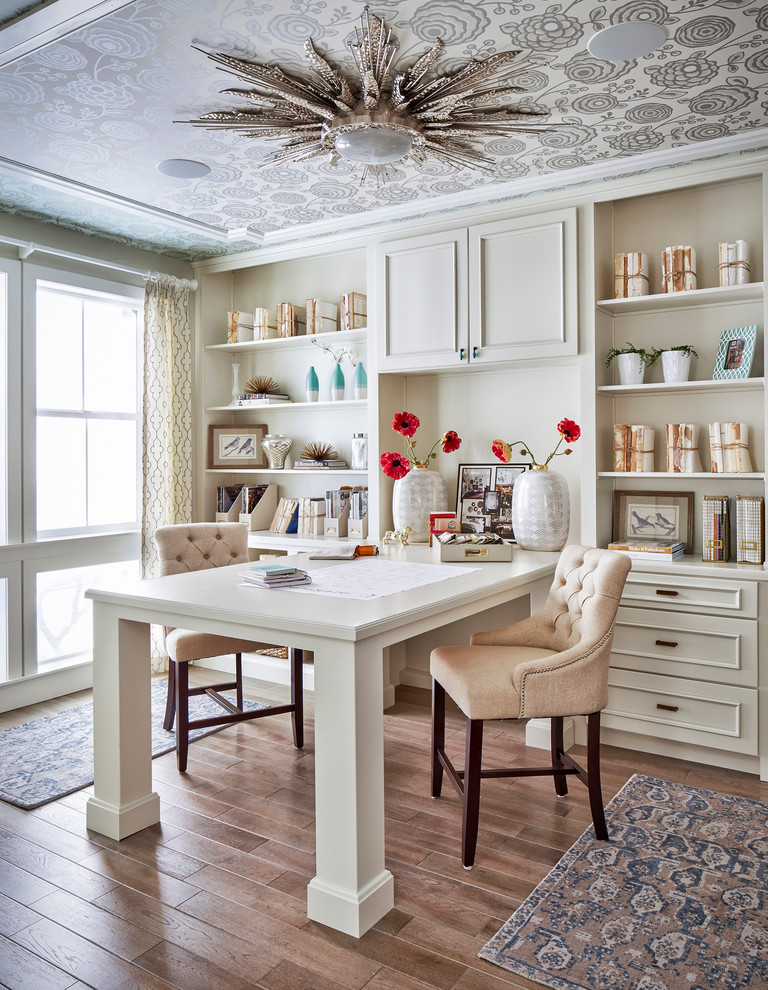 Traditional Home Office with Nailhead Trim