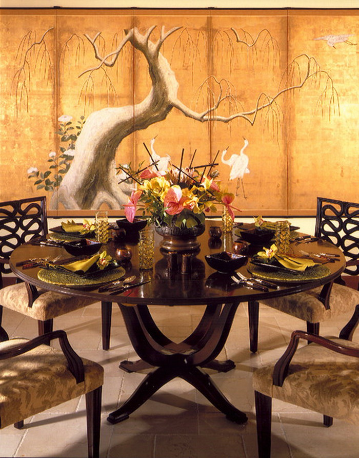 Tropical Dining Room Wall Murals Ideas