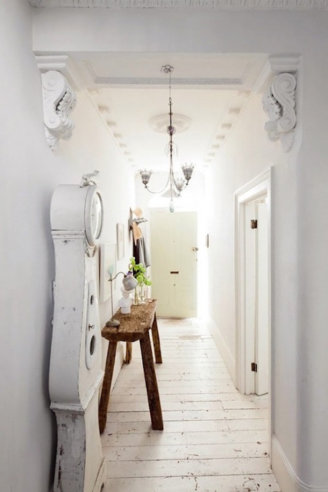 cool shabby chic entryway
