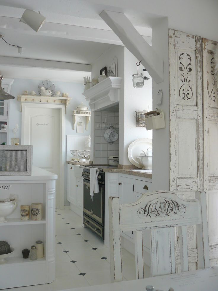 25 cute shabby chic kitchen design ideas interior god - Chic country house architecture with adorable interior design ...
