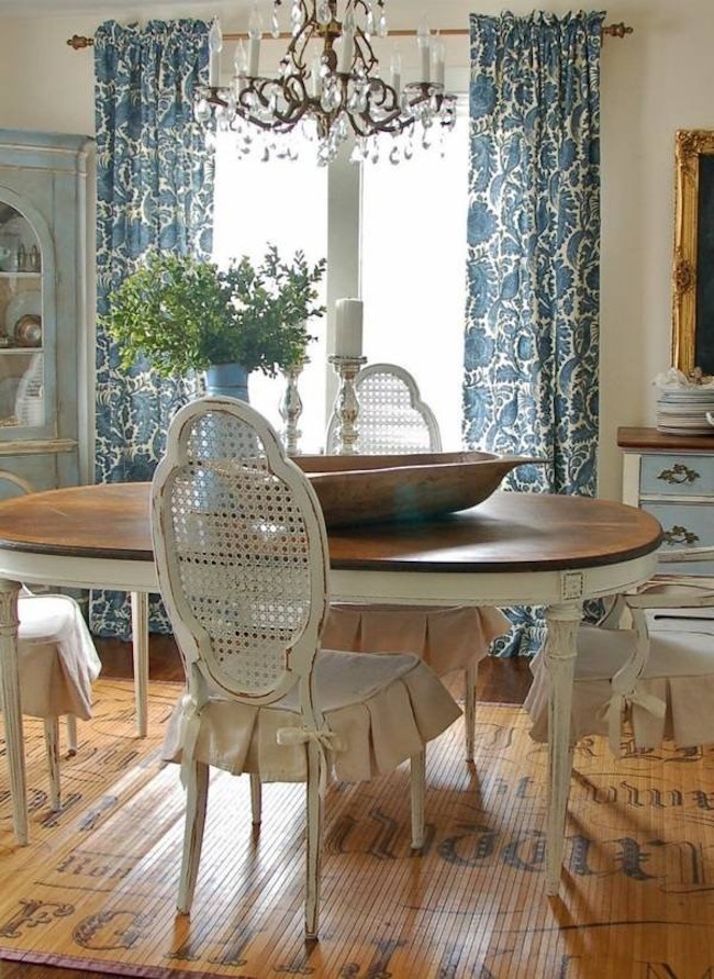 Luxury Living Room: 23 Stunning Shabby Chic Dining Room Design Ideas