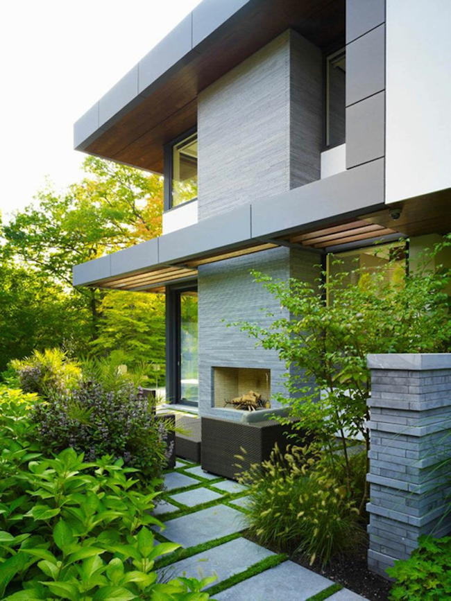 outdoor fireplace belzberg architects