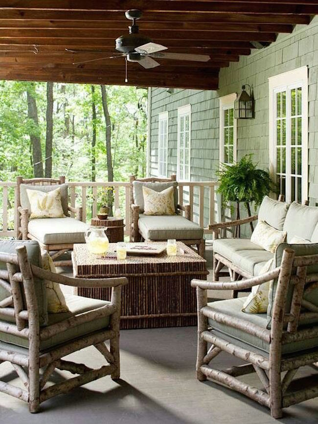 rustic patio decor ideas