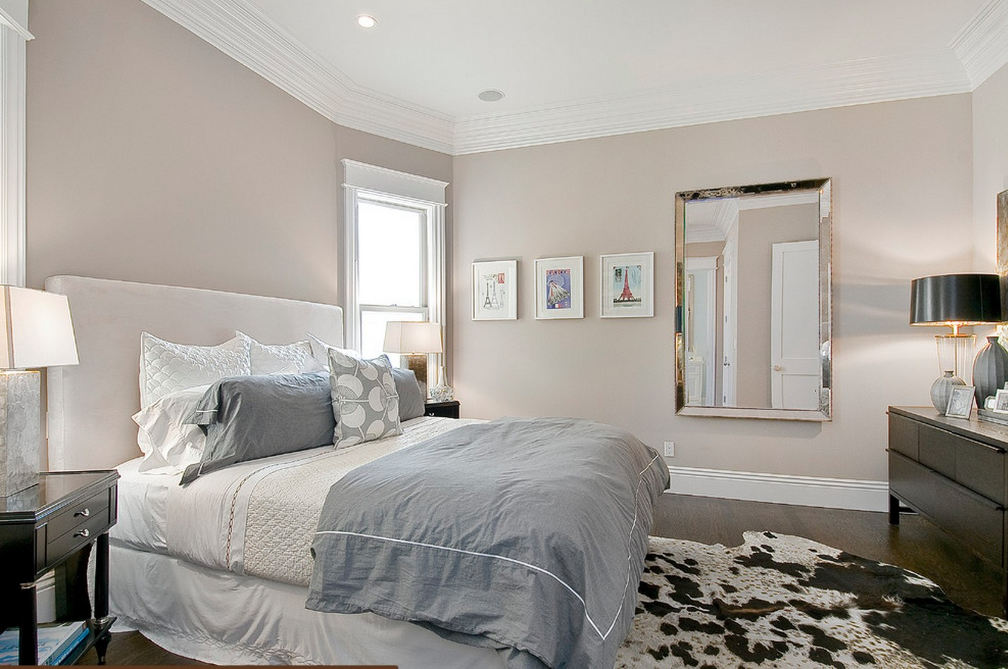 Fancy Neutral Bedroom Design