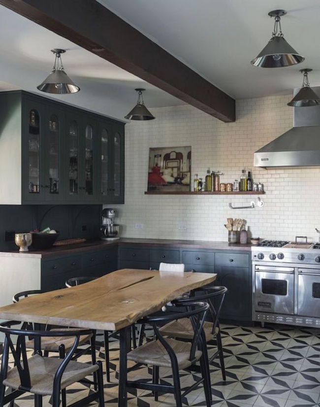 Remodelista dark and masculine kitchen