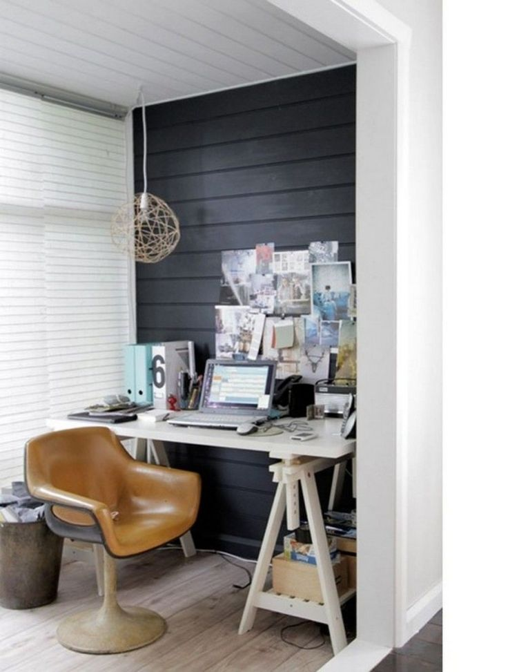 Small Home Office With Furniture From Ikea