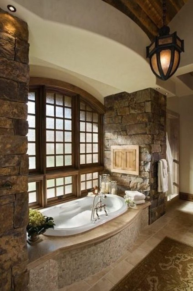 bathroom design ideas stone bath
