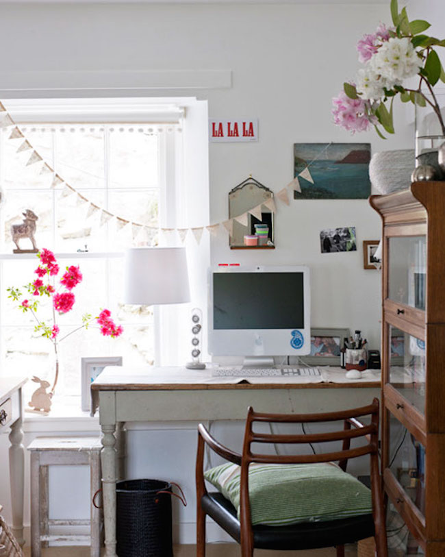 bohemian chic home office decor
