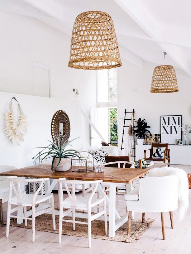 bohemian dining rooms