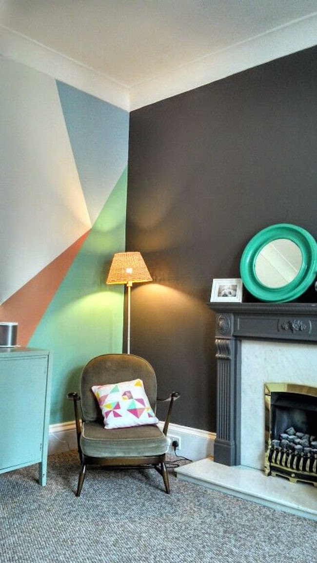 geometric wall paint designs