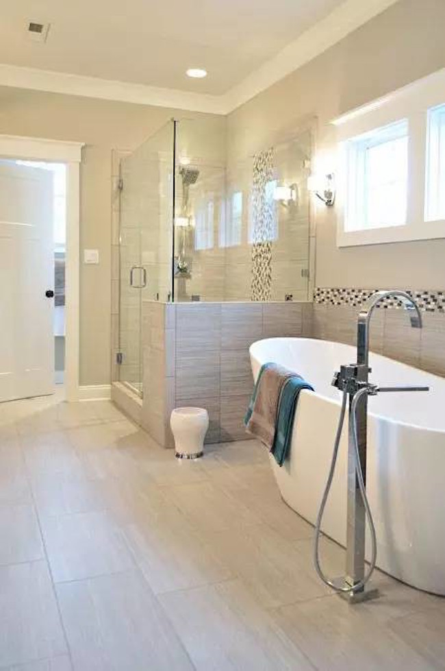 half tiled bathroom ideas