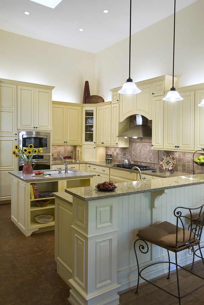 kitchen island high ceiling