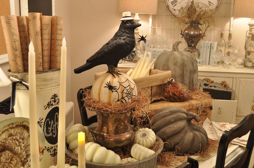 rustic halloween interior design