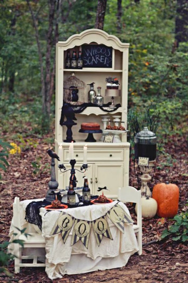 rustic halloween party decorations