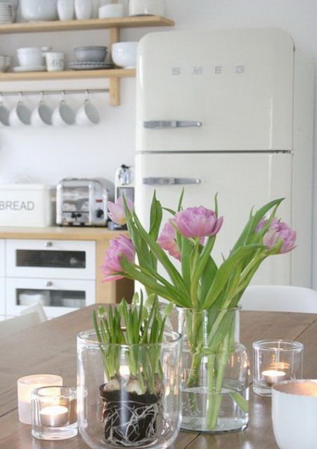 spring kitchen decorating idea