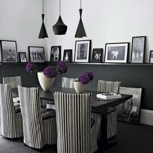 19 Black And White Traditional Dining Room Ideas