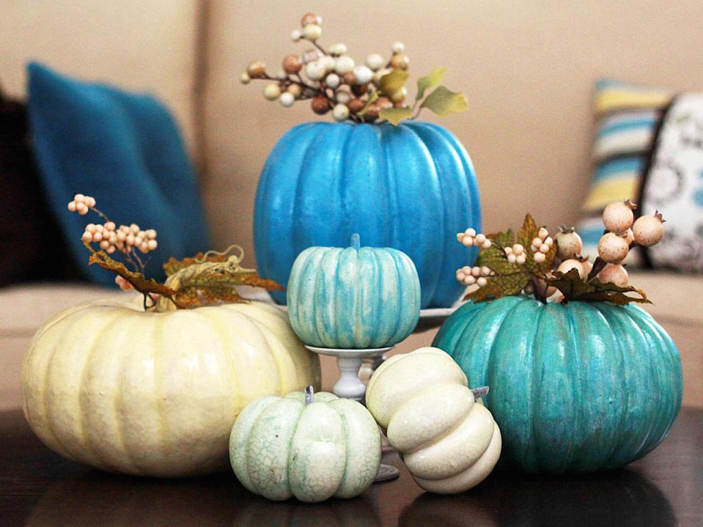 Blue Pumpkin Display