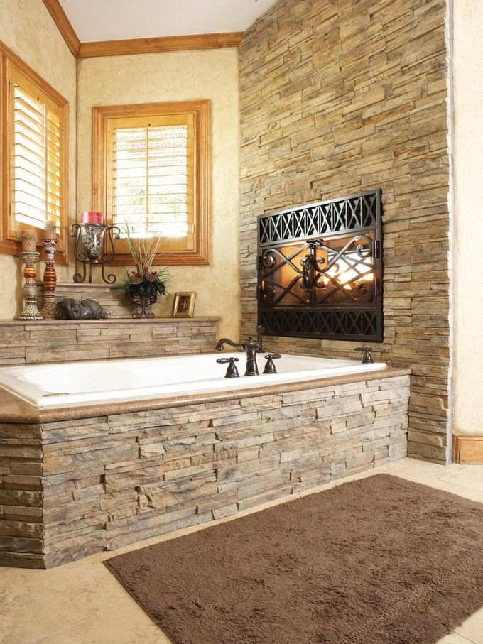 Luxury Bathrooms with Astonishing Fireplaces
