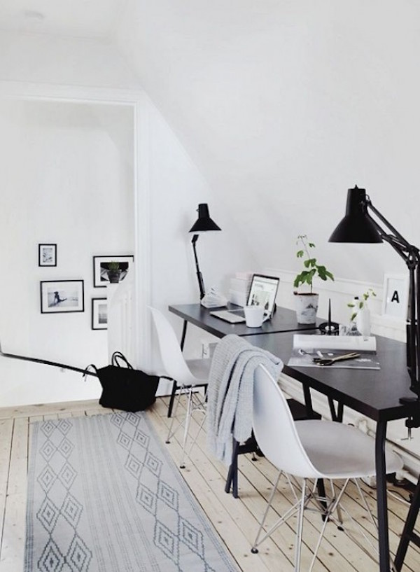 scandinavian home office design