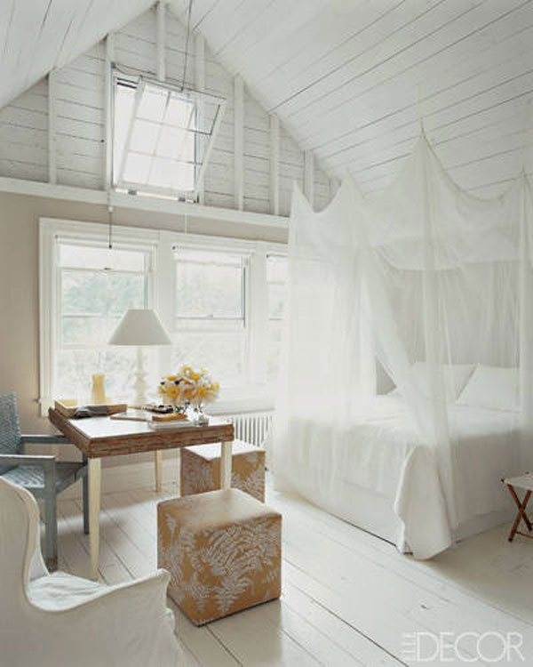 white washed wood ceiling
