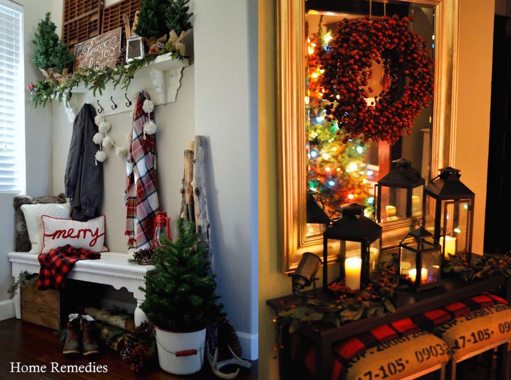 Wall Colour Inspiration: 27 Christmas Entryway Decor Ideas That You Will Love