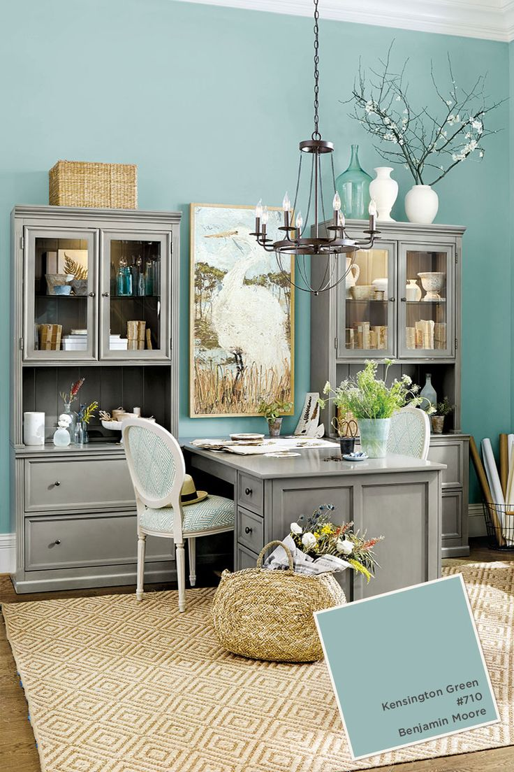 benjamin moores kensington blue home office