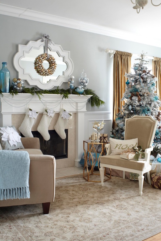 cool christmas living room decor ideas