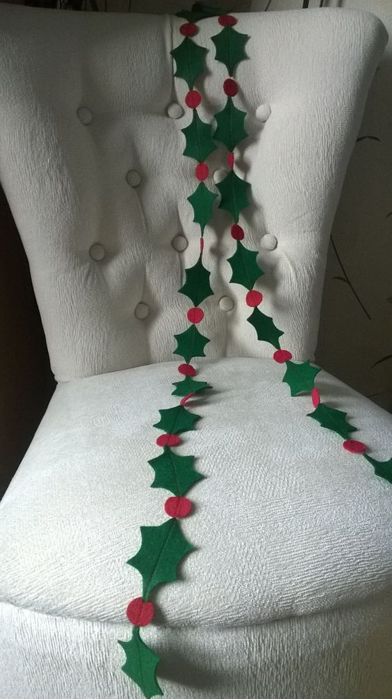 Home Made Xmas Decoration Garlands
