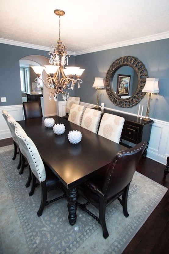 love blue dining rooms