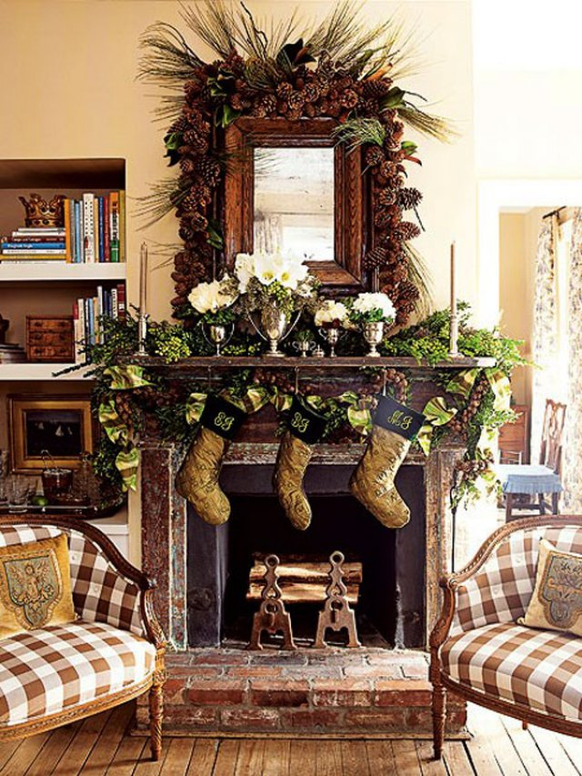 33 Christmas Mantel Decorations Ideas To Try This Year ...