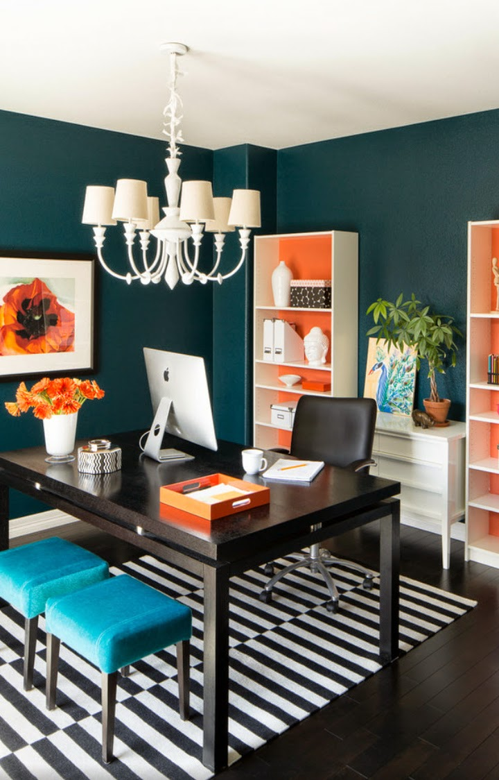 20 shared home office ideas that are functional interior god - Small office setup ideas ...