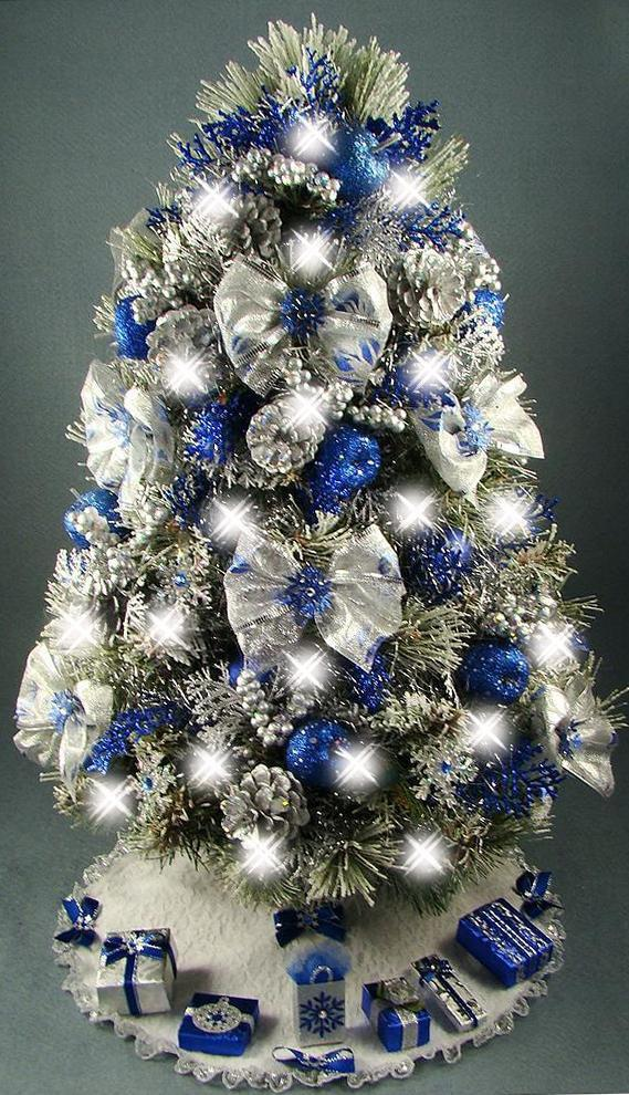 silver and blue christmas decor christmas lollipop decorations