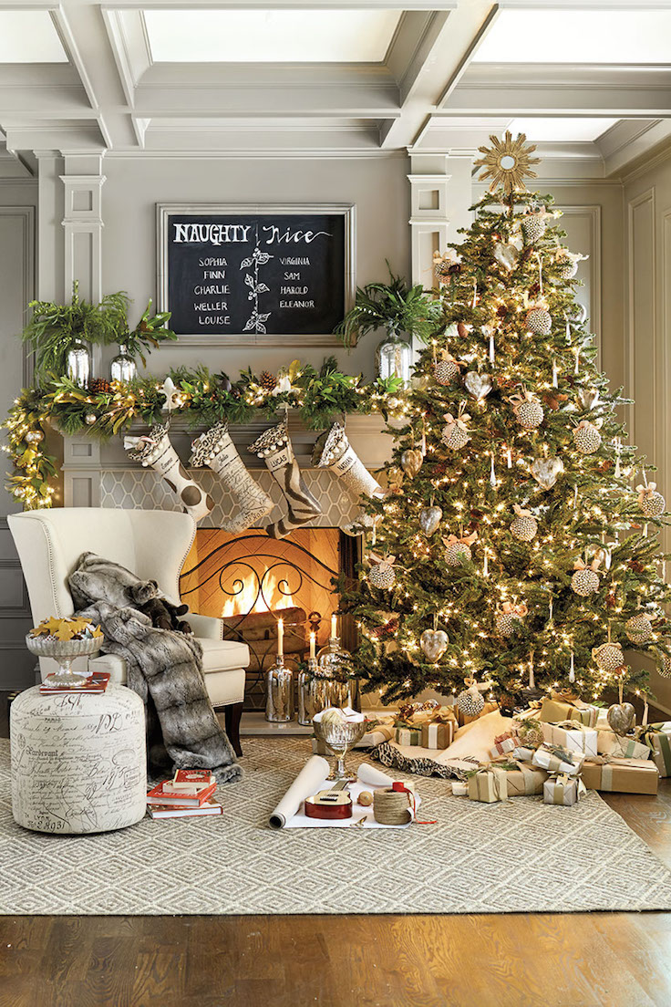 small christmas living room decor ideas