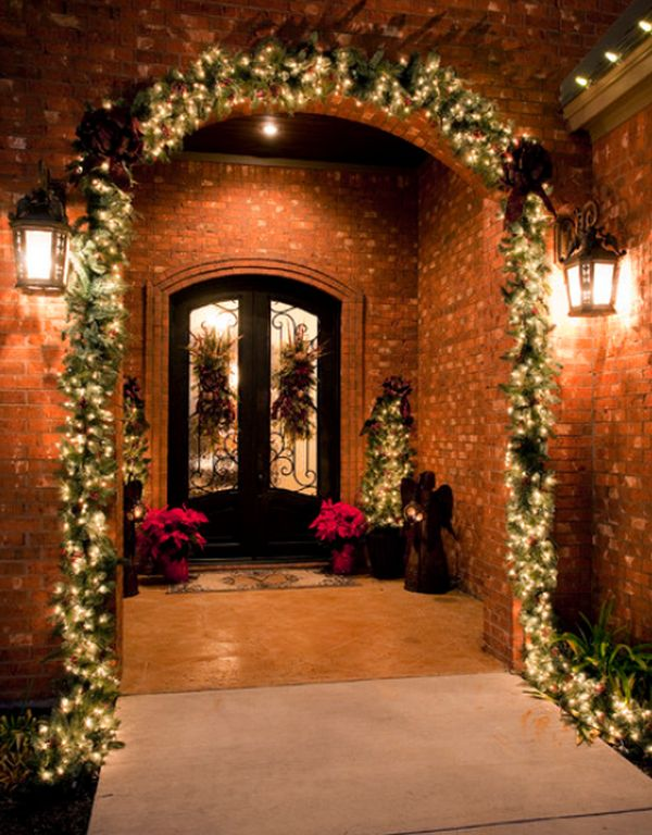 xmas entryway decor ideas