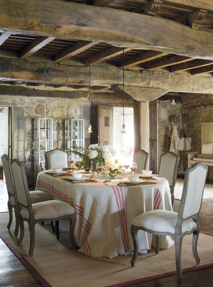 beautiful provence dining spaces