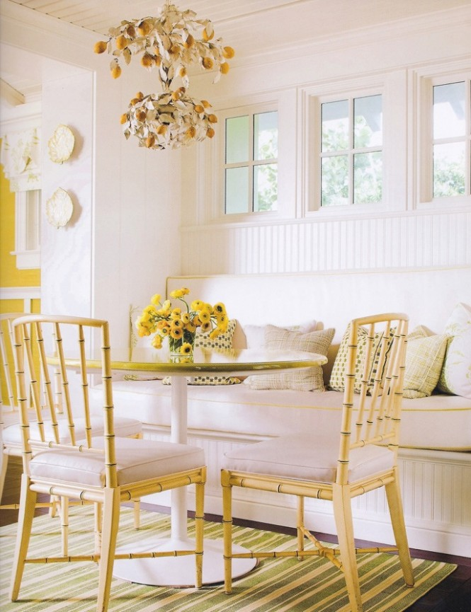 yellow dining room decoration ideas
