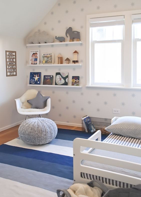 baby boy nursery to toddler room