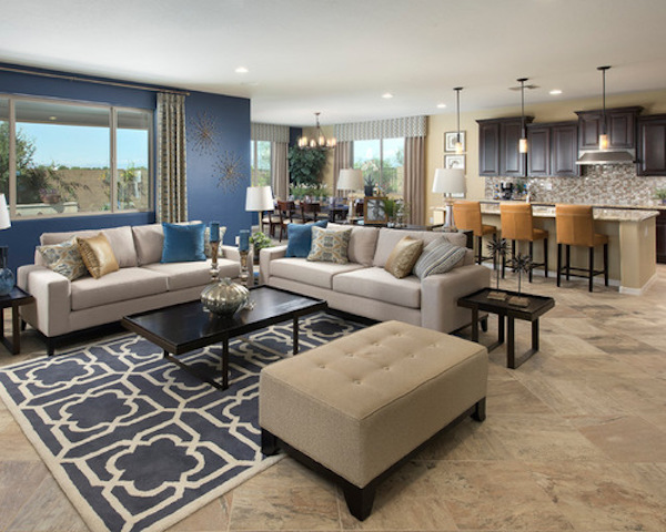 blue accents home design ideas