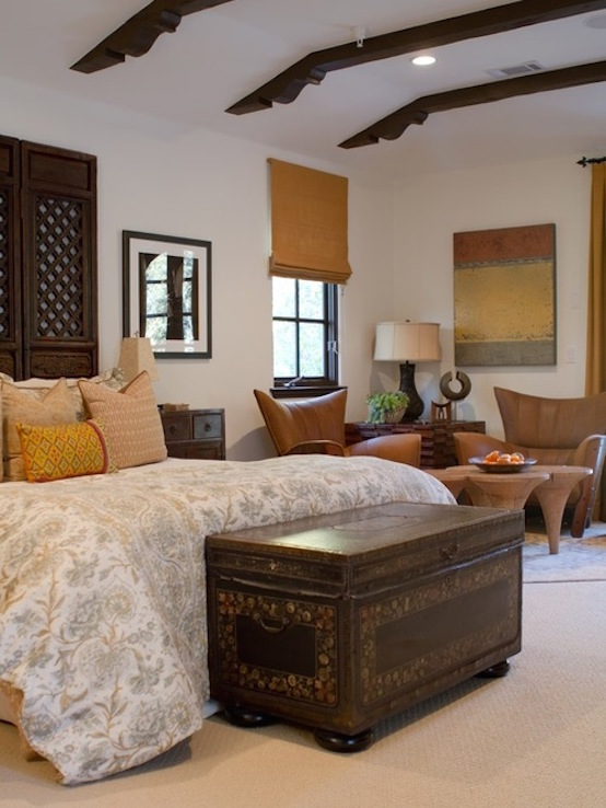 example of a tuscan bedroom design