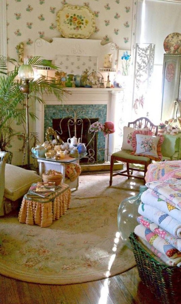vintage country living room designs