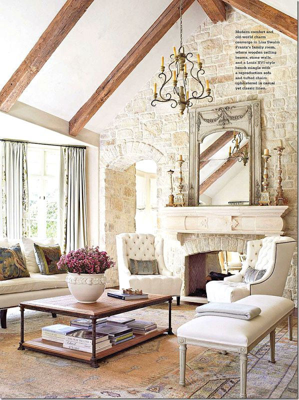 country french living rooms