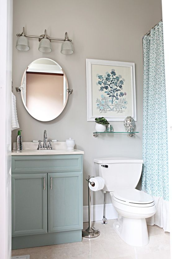 decorate a small bathroom